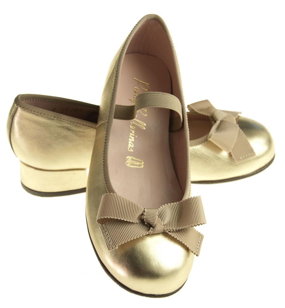 pretty ballerinas guld med h l ballerina sko. Black Bedroom Furniture Sets. Home Design Ideas